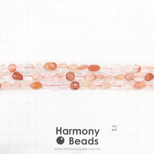 RED QUARTZ Nugget Beads, Natural, ~7x10mm