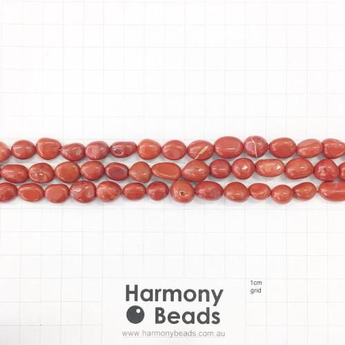 RED JASPER Nugget Beads, Natural, ~7x10mm