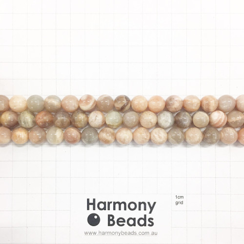 SUNSTONE Smooth Round Beads, Natural, 10mm
