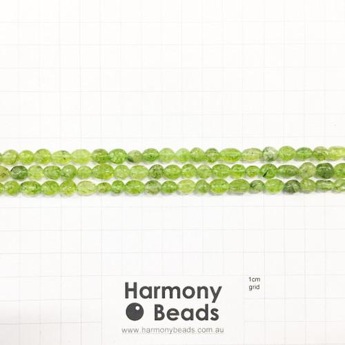 PERIDOT Nugget Beads, Natural, ~6x9mm
