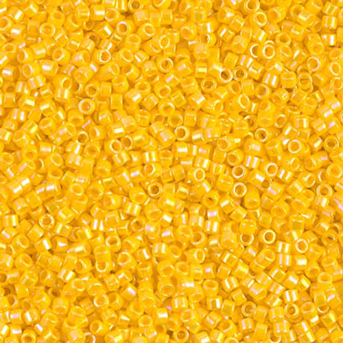 Miyuki Delica Beads 11/0 DB1572 Opaque Canary AB 7.2 grams