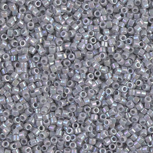 Miyuki Delica Beads 11/0 DB1579 Opaque Ghost Grey AB 7.2 grams