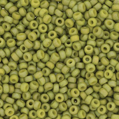 Miyuki Seed Beads 8/0 8-94697 Frost Opaque Glaze Rainbow Olive 22 grams