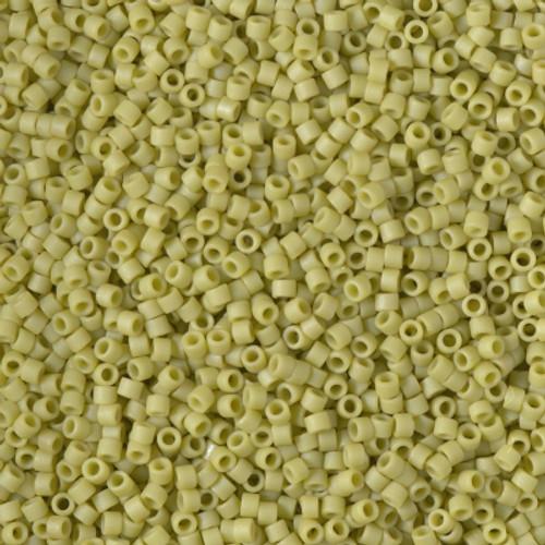 Miyuki Delica Beads 11/0 DB2290 Frost Opaque Glaze Honeydew 7.2grams