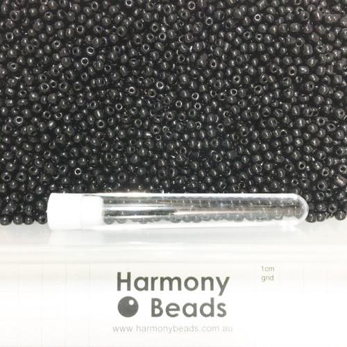 Glass Seed Beads 6/0 BLACK OPAQUE