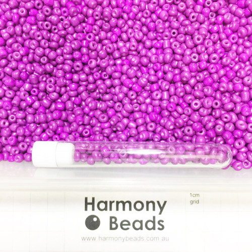 Glass Seed Beads 6/0 DARK VIOLET OPAQUE
