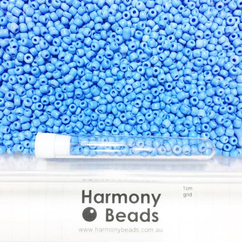 Glass Seed Beads 6/0 CORNFLOWER BLUE OPAQUE