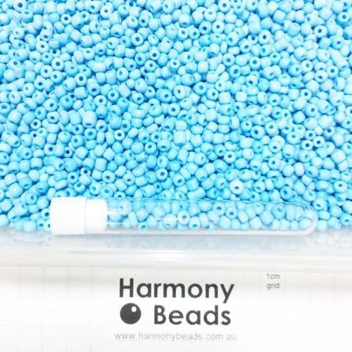 Glass Seed Beads 6/0 LIGHT SKY BLUE OPAQUE
