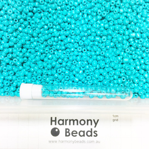 Glass Seed Beads 6/0 DARK TURQUOISE OPAQUE