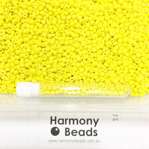 Glass Seed Beads 6/0 YELLOW OPAQUE