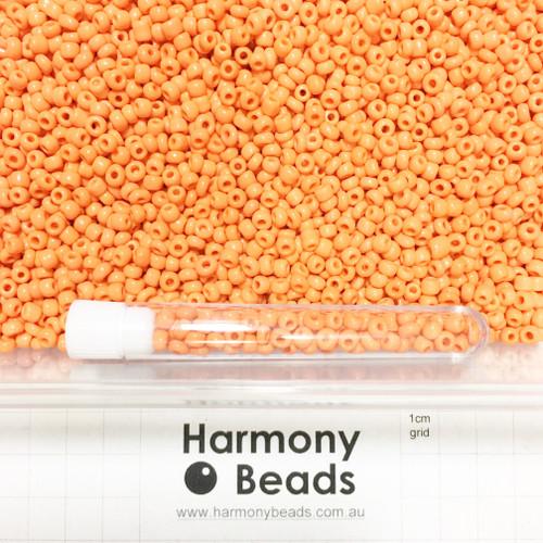 Glass Seed Beads 6/0 ORANGE OPAQUE
