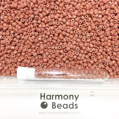Glass Seed Beads 6/0 COCONUT BROWN OPAQUE