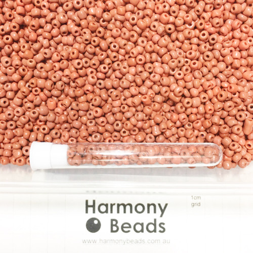 Glass Seed Beads 6/0 TERRACOTTA RED OPAQUE