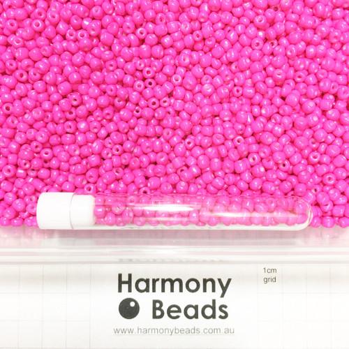 Glass Seed Beads 6/0 FUCHSIA HOT PINK OPAQUE