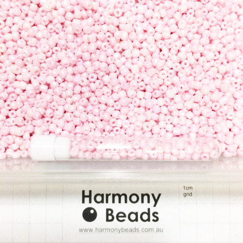 Glass Seed Beads 6/0 PINK OPAQUE