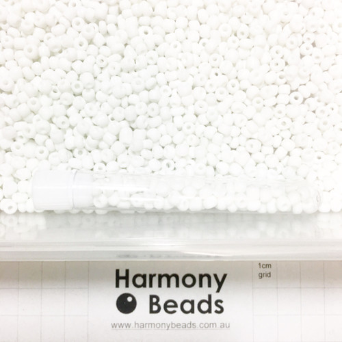 Glass Seed Beads 6/0 WHITE OPAQUE