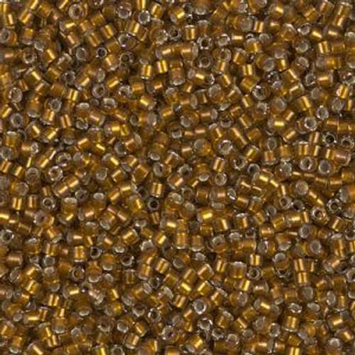 Miyuki Delica Beads 11/0 DB1681 Silver Lined Glazed Dark Saffron 7.2 grams