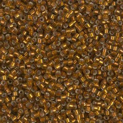 Miyuki Delica Beads 11/0 DB1682 Silver Lined Glazed Dark Honey 7.2 grams