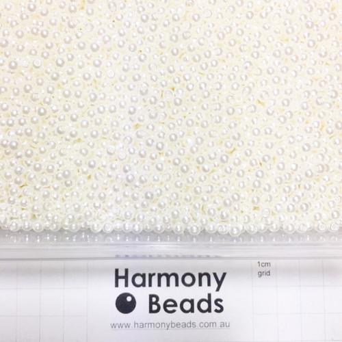 Acrylic Plastic Pearls Round Pearl Beads - 4mm - CREAM