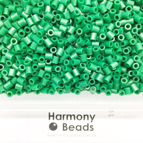 FUZE Beads Iron-Fuse Melty Plastic Tube Beads 5mm OPAQUE MEDIUM SEA GREEN