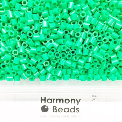 FUZE Beads Iron-Fuse Melty Plastic Tube Beads 5mm OPAQUE GREEN