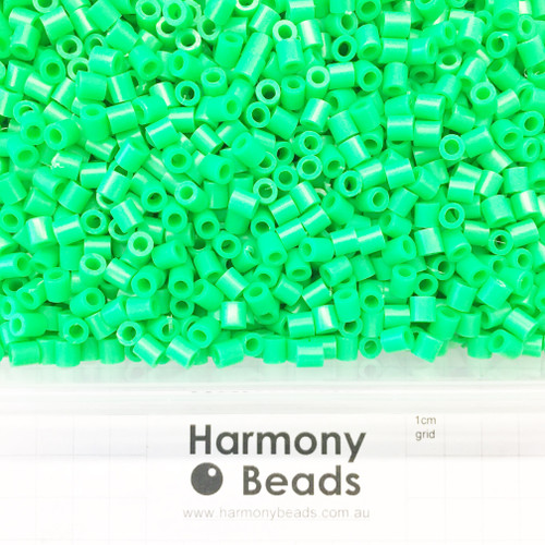 FUZE Beads Iron-Fuse Melty Plastic Tube Beads 5mm OPAQUE LIME BRIGHT GREEN
