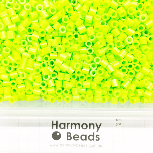 FUZE Beads Iron-Fuse Melty Plastic Tube Beads 5mm OPAQUE YELLOW GREEN LIME