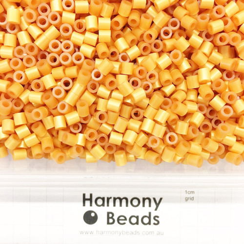 FUZE Beads Iron-Fuse Melty Plastic Tube Beads 5mm PEARLESCENT GOLDEN SAND