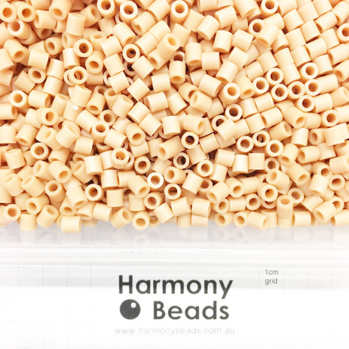 FUZE Beads Iron-Fuse Melty Plastic Tube Beads 5mm OPAQUE PEACH PUFF BEIGE