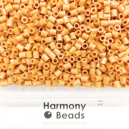 FUZE Beads Iron-Fuse Melty Plastic Tube Beads 5mm OPAQUE PERU TAN