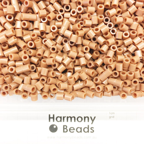 FUZE Beads Iron-Fuse Melty Plastic Tube Beads 5mm OPAQUE COCONUT BROWN