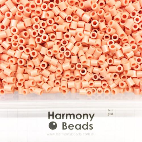 FUZE Beads Iron-Fuse Melty Plastic Tube Beads 5mm OPAQUE LIGHT SALMON