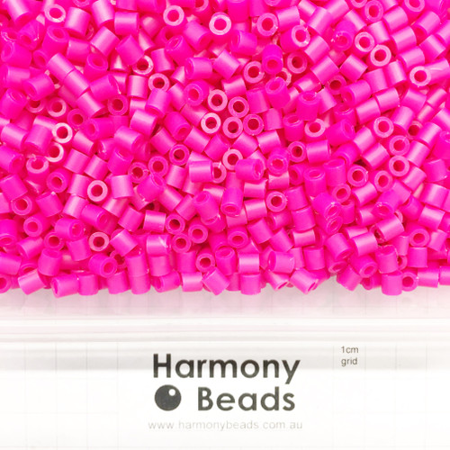 FUZE Beads Iron-Fuse Melty Plastic Tube Beads 5mm OPAQUE CAMELLIA PINK