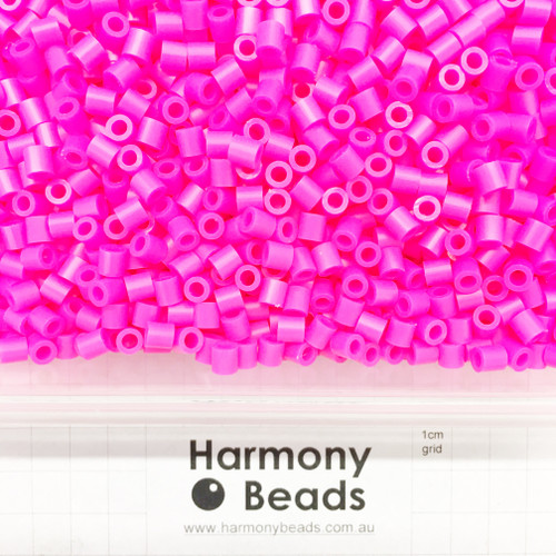 FUZE Beads Iron-Fuse Melty Plastic Tube Beads 5mm OPAQUE MAGENTA NEON PINK *HIGHLIGHTER FLUORESCENT
