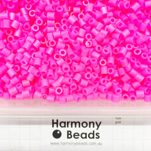FUZE Beads Iron-Fuse Melty Plastic Tube Beads 5mm OPAQUE CAMELLIA HOT PINK