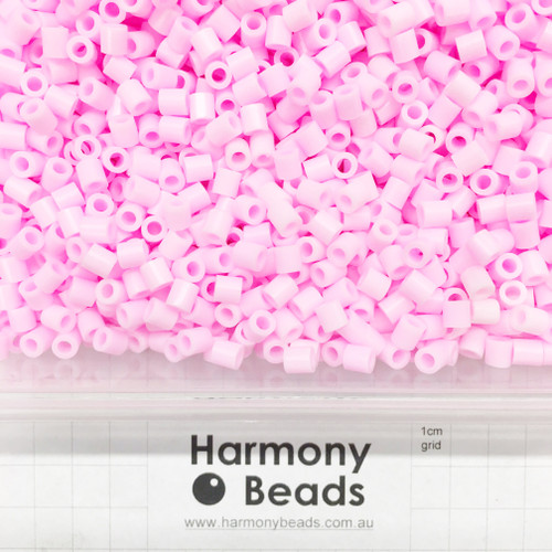 FUZE Beads Iron-Fuse Melty Plastic Tube Beads 5mm OPAQUE LIGHT BABY PINK