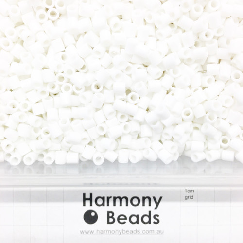 FUZE Beads Iron-Fuse Melty Plastic Tube Beads 5mm OPAQUE LIGHT WHITE