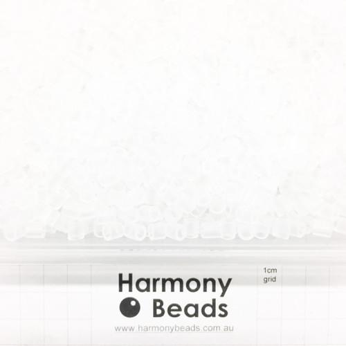 FUZE Beads Iron-Fuse Melty Plastic Tube Beads 5mm TRANSLUCENT CLEAR
