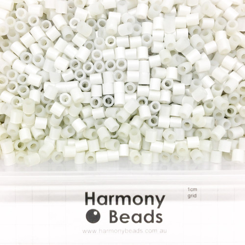 FUZE Beads Iron-Fuse Melty Plastic Tube Beads 5mm PEARLESCENT SILVER GREY
