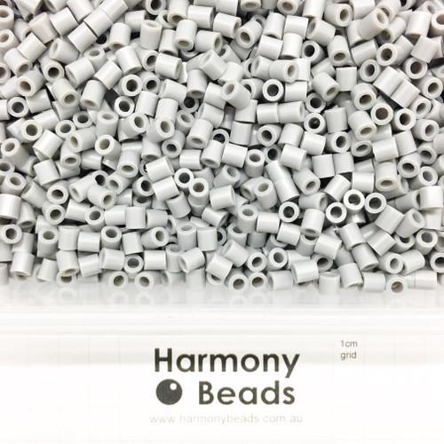 FUZE Beads Iron-Fuse Melty Plastic Tube Beads 5mm OPAQUE GREY
