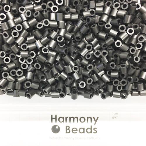 FUZE Beads Iron-Fuse Melty Plastic Tube Beads 5mm OPAQUE BLACK