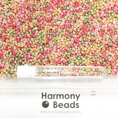 Glass Seed Beads 8/0 Metallic MIX 1