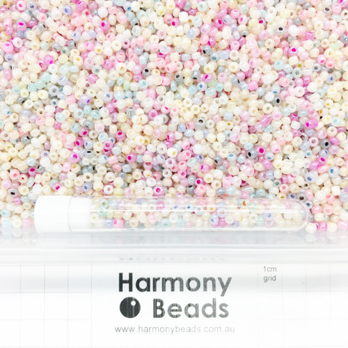 Glass Seed Beads 8/0 Ceylon Pearlescent MIX 1
