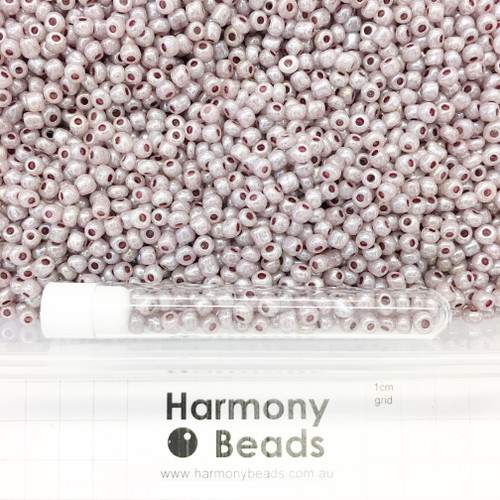 Glass Seed Beads Size 6/0 (approx. 4mm) Mocca Ceylon Pearlescent