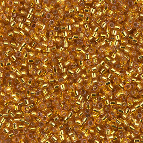 Miyuki Delica Beads 11/0 DB2157 Silver Lined Duracoat Yellow Gold 7.2 grams