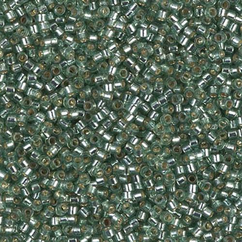 Miyuki Delica Beads 11/0 DB2165 Silver Lined Duracoat Dark Seafoam 7.2 grams