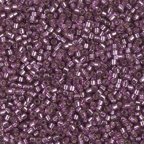 Miyuki Delica Beads 11/0 DB2169 Silver Lined Duracoat Lilac 7.2 grams
