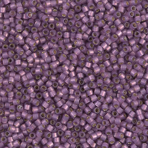 Miyuki Delica Beads 11/0 DB2182 Silver Lined Duracoat S/F Lilac 7.2 grams