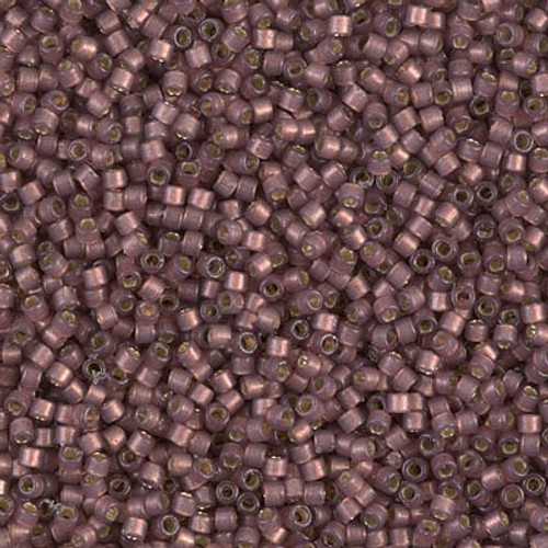 Miyuki Delica Beads 11/0 DB2183 Silver Lined Duracoat S/F Raisin 7.2 grams