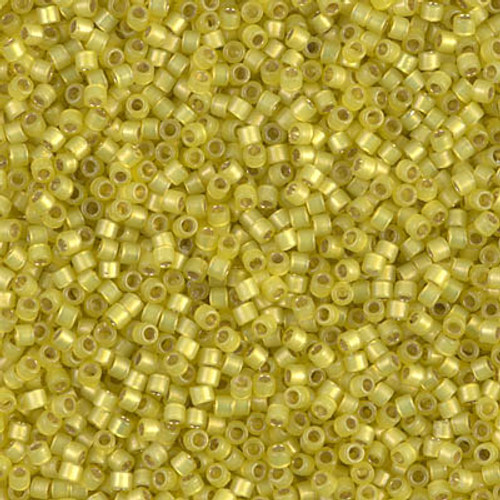 Miyuki Delica Beads 11/0 DB2187 Silver Lined Duracoat S/F Citron 7.2 grams